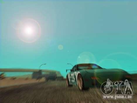 Mazda RX7 rEACT pour GTA San Andreas vue arrière