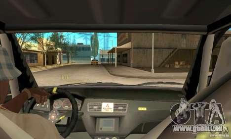 Mitsubishi Lancer Evolution IX für GTA San Andreas Rückansicht