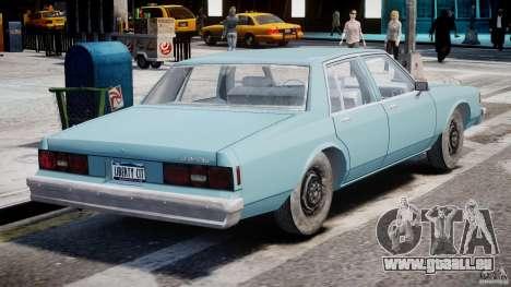 Chevrolet Impala 1983 [Final] für GTA 4 Unteransicht
