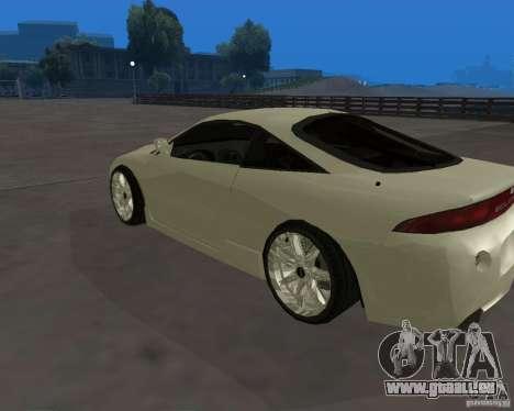 Mitsubishi Eclipse Tunable pour GTA San Andreas laissé vue