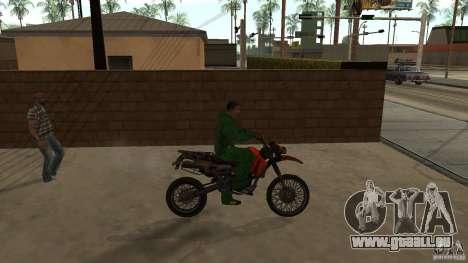 Motorrad Mirabal für GTA San Andreas zurück linke Ansicht