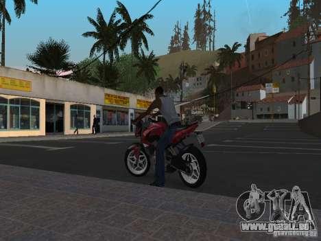 Bajaj Pulsar 200NS 2012 pour GTA San Andreas laissé vue