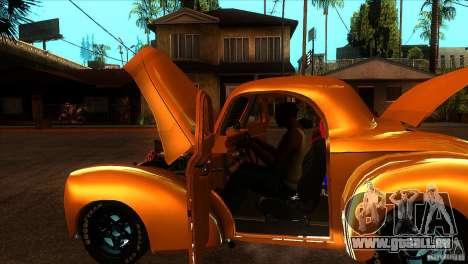 Americar Willys 1941 pour GTA San Andreas vue de côté