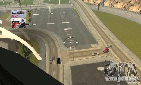 Police Maverick 2 pour GTA San Andreas vue intérieure