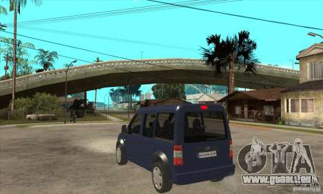 Ford Transit Connect 2007 für GTA San Andreas zurück linke Ansicht