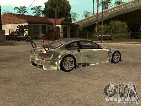 BMW M3 GT2 pour GTA San Andreas vue de droite