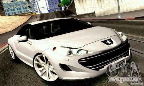 Peugeot Rcz 2011 für GTA San Andreas rechten Ansicht