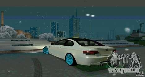 BMW E92 pour GTA San Andreas vue de droite