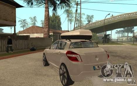 Renault Megane III pour GTA San Andreas sur la vue arrière gauche