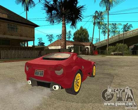 Lancia Stratos Fenomenon für GTA San Andreas zurück linke Ansicht