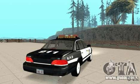 Ford Taurus 1992 Police für GTA San Andreas zurück linke Ansicht