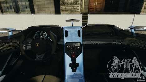 Lamborghini Aventador J 2012 pour GTA 4 Vue arrière