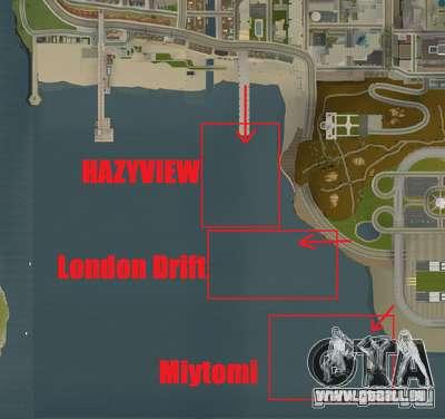 NFS:Shift Drift Tracks für GTA San Andreas fünften Screenshot