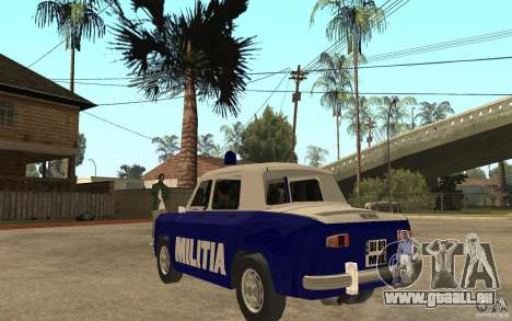 Dacia 1100 Militie für GTA San Andreas zurück linke Ansicht