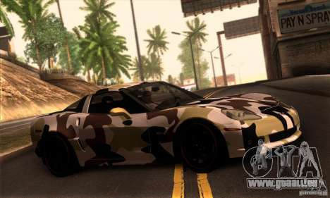 Chevrolet Corvette Z06 pour GTA San Andreas salon