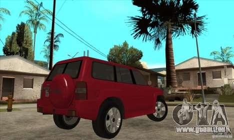Nissan Patrol 2005 Stock pour GTA San Andreas vue arrière