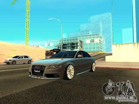 Audi S4 2010 pour GTA San Andreas vue de dessus