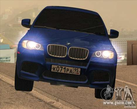 BMW X6 M E71 pour GTA San Andreas vue intérieure