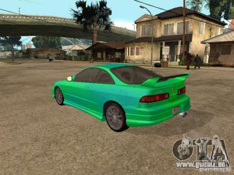 Honda Integra 2000 für GTA San Andreas Unteransicht