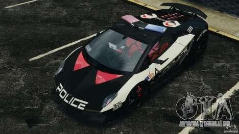 Lamborghini Sesto Elemento 2011 Police v1.0 ELS pour GTA 4 roues
