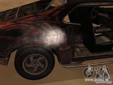 Car from FlatOut 2 pour GTA San Andreas sur la vue arrière gauche