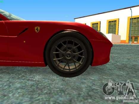 Ferrari 599 GTB für GTA San Andreas rechten Ansicht