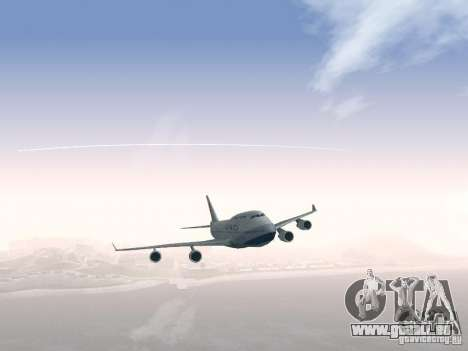 Boeing 747-400 China Airlines für GTA San Andreas obere Ansicht