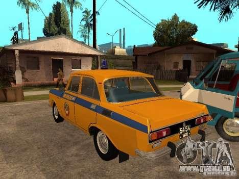 AZLK 2140 Miliz frühe version für GTA San Andreas zurück linke Ansicht
