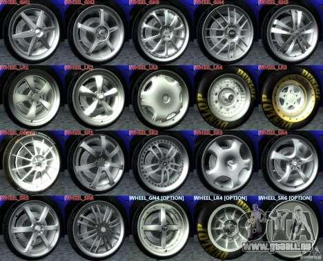 Wheels Pack NFSPS II für GTA San Andreas