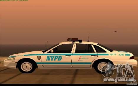 Ford Crown Victoria 1992 NYPD für GTA San Andreas linke Ansicht