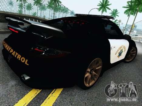 Porsche 911 GT2 RS (997) Police pour GTA San Andreas vue arrière