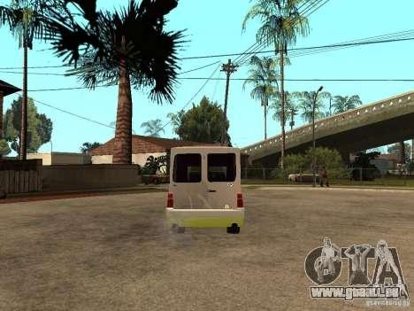 Fiat Fiorino für GTA San Andreas zurück linke Ansicht