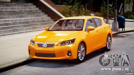 Lexus CT200h 2011 für GTA 4