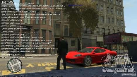Einfache Trainer Version 6.2 für 1.0.1.0-1.0.0.4 für GTA 4 Sekunden Bildschirm