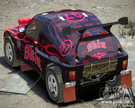 Mitsubishi Pajero Proto Dakar EK86 vinyle 4 pour GTA 4 est un droit