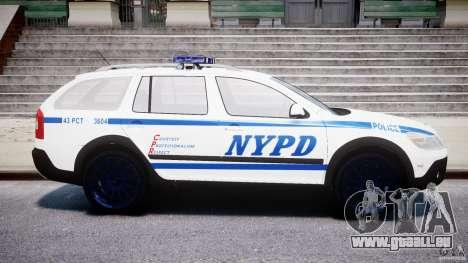 Skoda Octavia Scout NYPD [ELS] pour GTA 4 est une gauche
