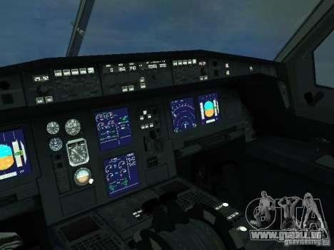 Airbus A330-300 Aeroflot pour GTA San Andreas vue intérieure