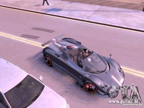 Pagani Zonda Cinque Roadster v 2.0 für GTA 4 hinten links Ansicht