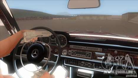 Mercedes-Benz 300 SEL für GTA San Andreas Unteransicht