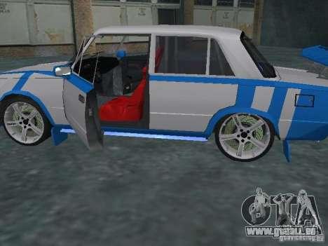 VAZ 2101 Sailor pour GTA San Andreas sur la vue arrière gauche