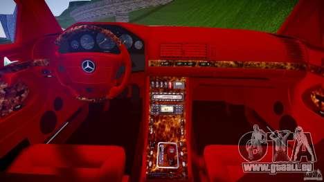 Mercedes Benz SL600 W140 1998 higher Performance für GTA 4 Seitenansicht