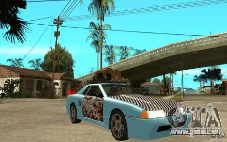Elegy Rost Style pour GTA San Andreas vue arrière
