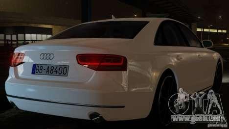 Audi A8 (D4, Typ 4H) 2010 Alpha für GTA 4 hinten links Ansicht