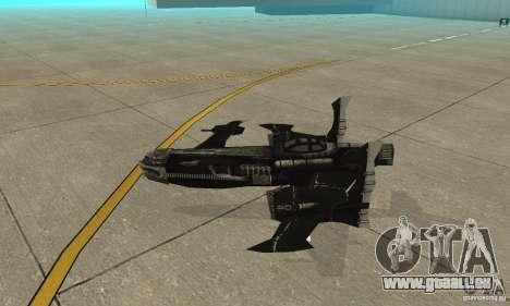 Hydra TimeShift Skin 2 pour GTA San Andreas sur la vue arrière gauche
