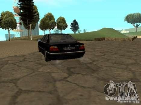 BMW 740I E38 (RUS) für GTA San Andreas zurück linke Ansicht