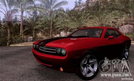 Dodge Challenger SRT8 für GTA San Andreas Rückansicht