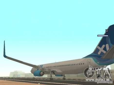XL Airways 737-800 pour GTA San Andreas sur la vue arrière gauche
