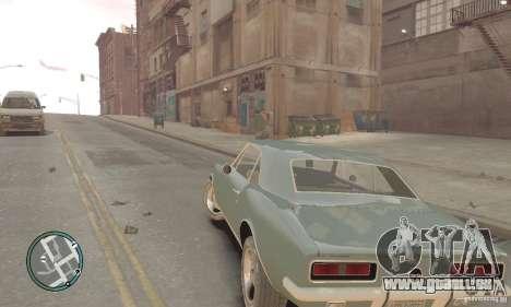 Chevrolet Camaro SS 1969 pour GTA 4 Vue arrière de la gauche