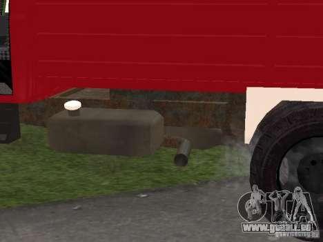 Feu GAZ 3309 pour GTA San Andreas vue de côté