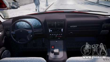 GAZ Volga 3110 pour GTA 4 vue de dessus